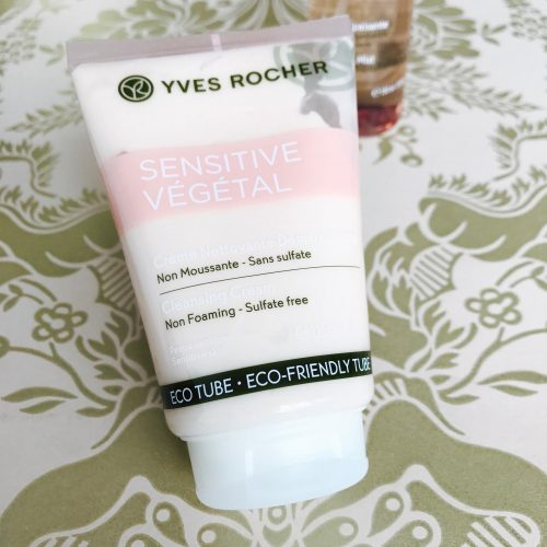 hud, Yves Rocher, hudpleje, sensitiv, hud, Cleansing Cream, Soothing Mist, Soothing Moisturizing Cream,