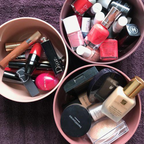 Zone, opbevaring, badeværelse, kosmetik, makeup, skønhed