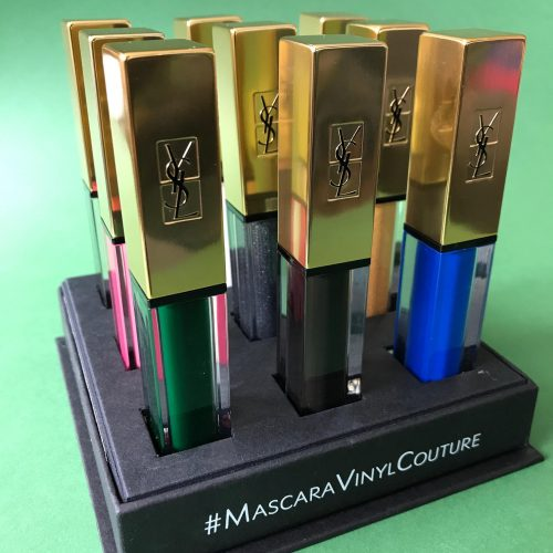 Yves Saint Laurent, makeup, mascara, farver, grøn, vipper, læber, mat