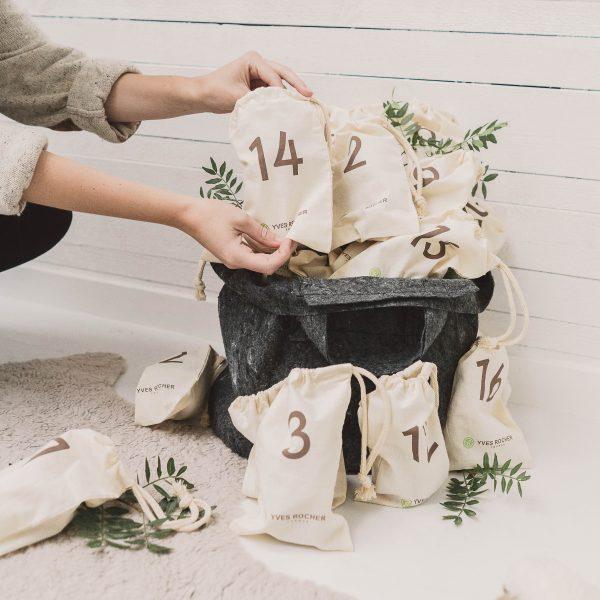 Yves Rocher, julekalender, 2017, overraskelser, 24 pakker, full size produkter