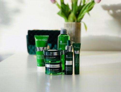 Yves Rocher, reparerende, hudpleje, Elixir Jeunesse, Maske, creme, serum, øjencreme, anti-pollution