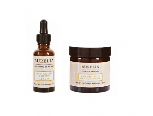 Aurelia, Cell Revitalise Day Moisturizer, Revitalise & Glow Serum, hudpleje, probiotisk, serum, dagcreme