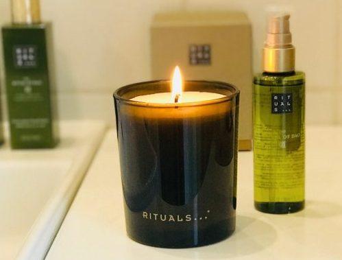 Rituals, spa, hjemmespa, duftlys, kropsolie, veloursæt, håndcreme, håndsæbe, duft, hygge