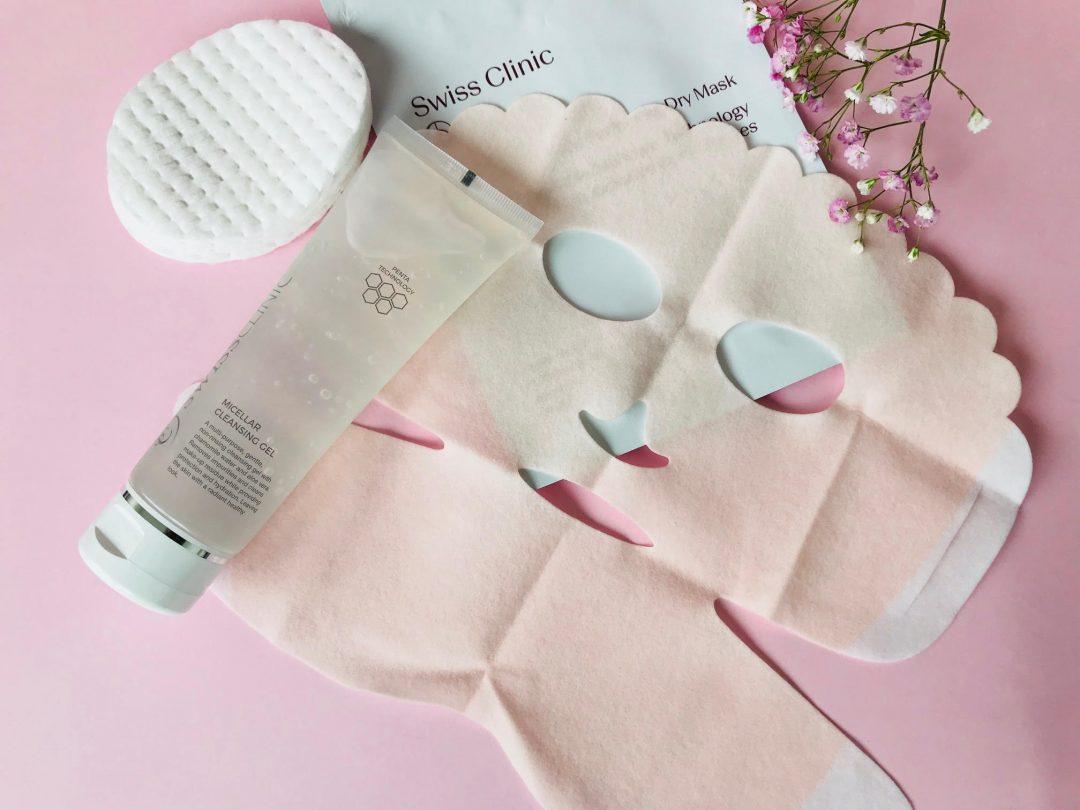 Swiss Clinic, hudpleje, vand, vinterhud, tør hud, Face Dry Mask, Micellar Cleansing Gel,