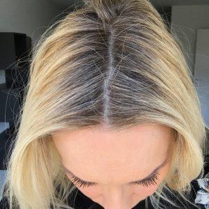 farve mørkt hår gråt