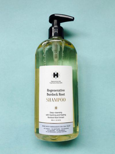 Hårklinikken, shampoo, hårvækst, Regenerative Burdock Root Shampoo, hårpleje, hovedbund