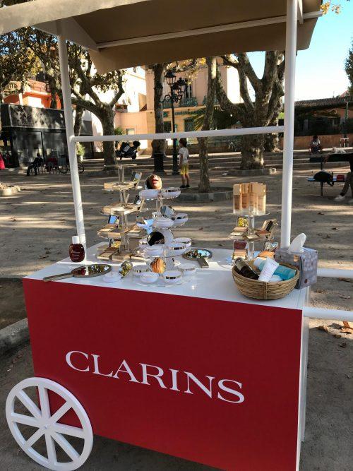 Clarins, makeup, læber, foundation, hud, bloggertur, St.Tropez,