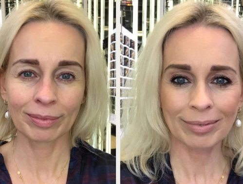 Sådan bruger du den lyserøde øjenskygge