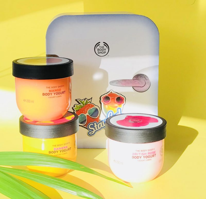 The Body Shop, nyheder, yogurt, makeup, Body Yogurt, Highlighter, Face Mist
