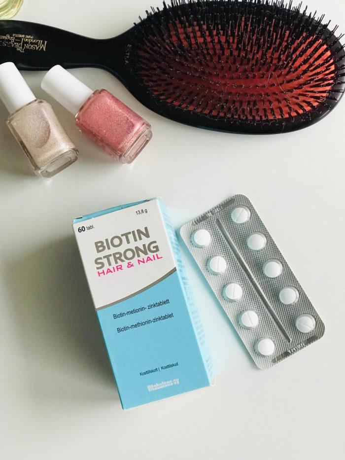 Biotin Strong, stærkere hår og negle, kosttilskud, test, negle, hår,