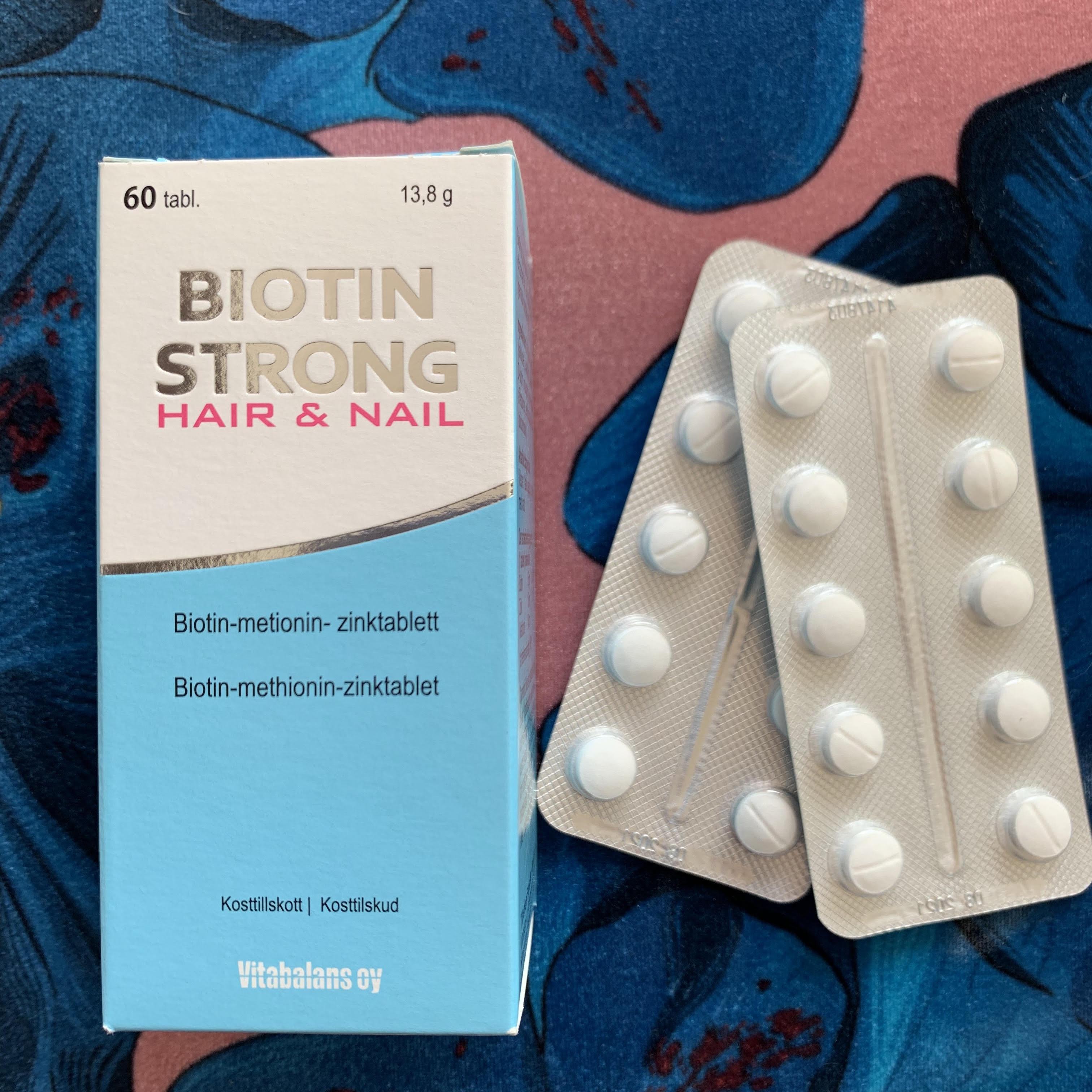 Biotin Strong, test, resultat, kosttilskud, hår, negle, indre skønhed