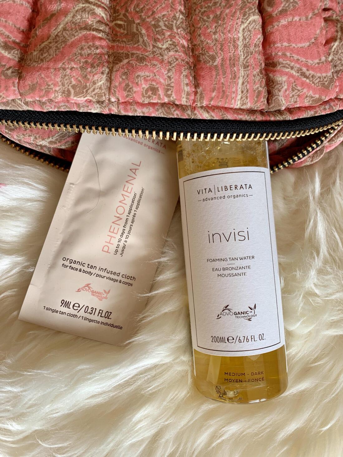 Vita Liberata, Selvbruner, Organic Tan Infused Cloth, Invisi Foamin Tan Water, nyhed,