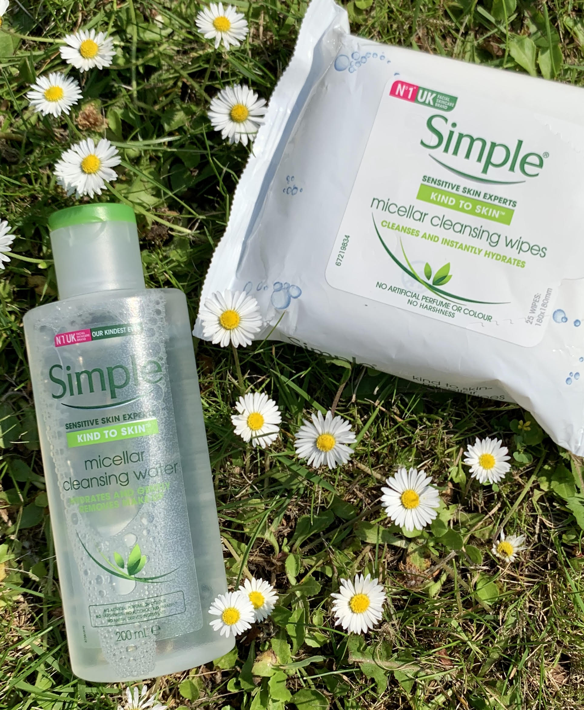 Simple, rensevand, wipes, Micellar Water, rens