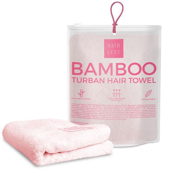 Hairlust, pleje til dit hår, bambus, hårpleje, shampoo, hår, håndklæde, pudebetræk