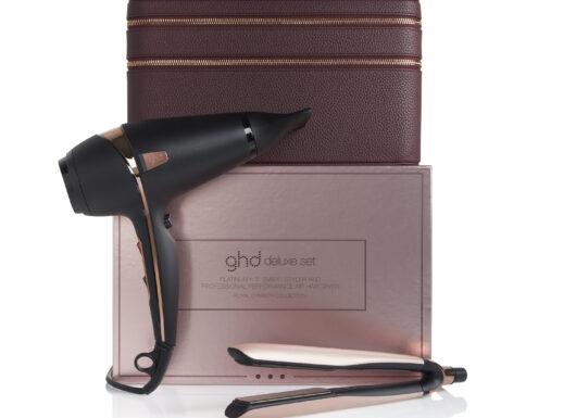 ghd, Deluxe Gift Set, styler, stylings, hårtørrer, glattejern, hår