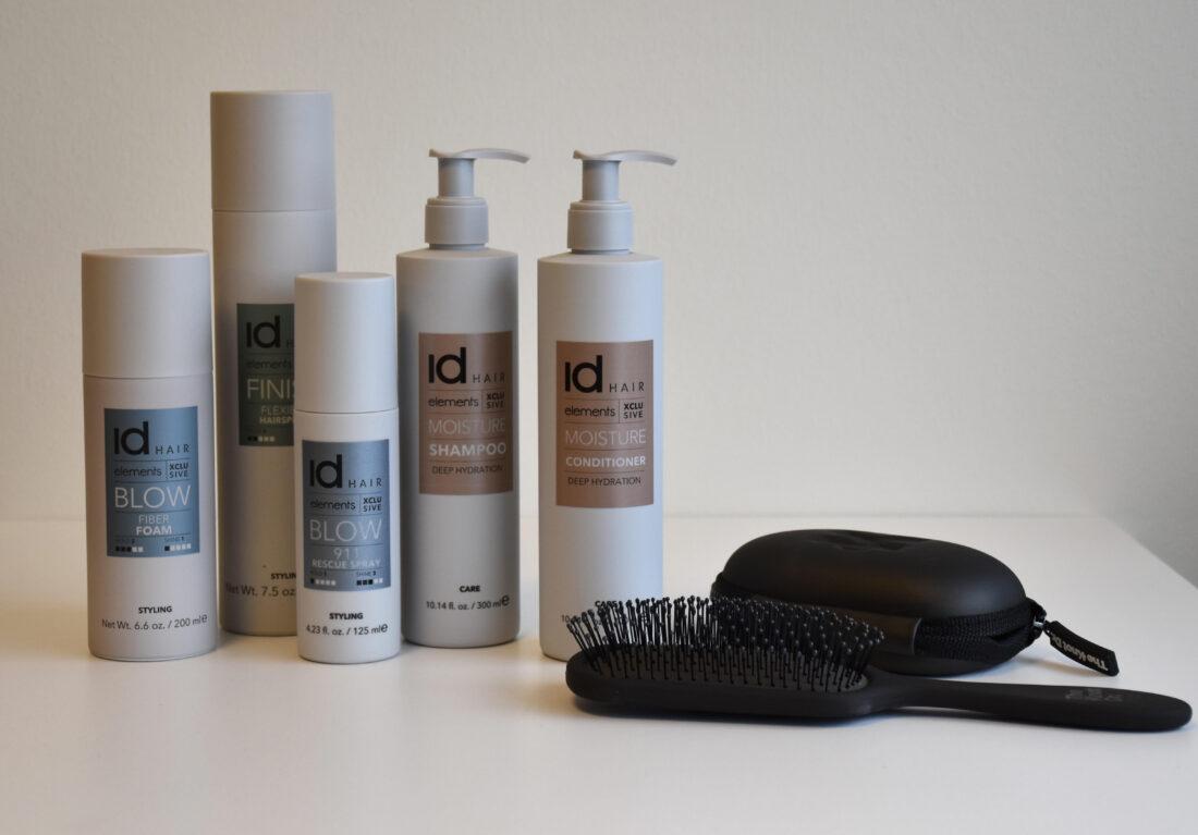 Id Hair, Elements Xclusive, hårpleje, shampoo, conditioner, styling, børste