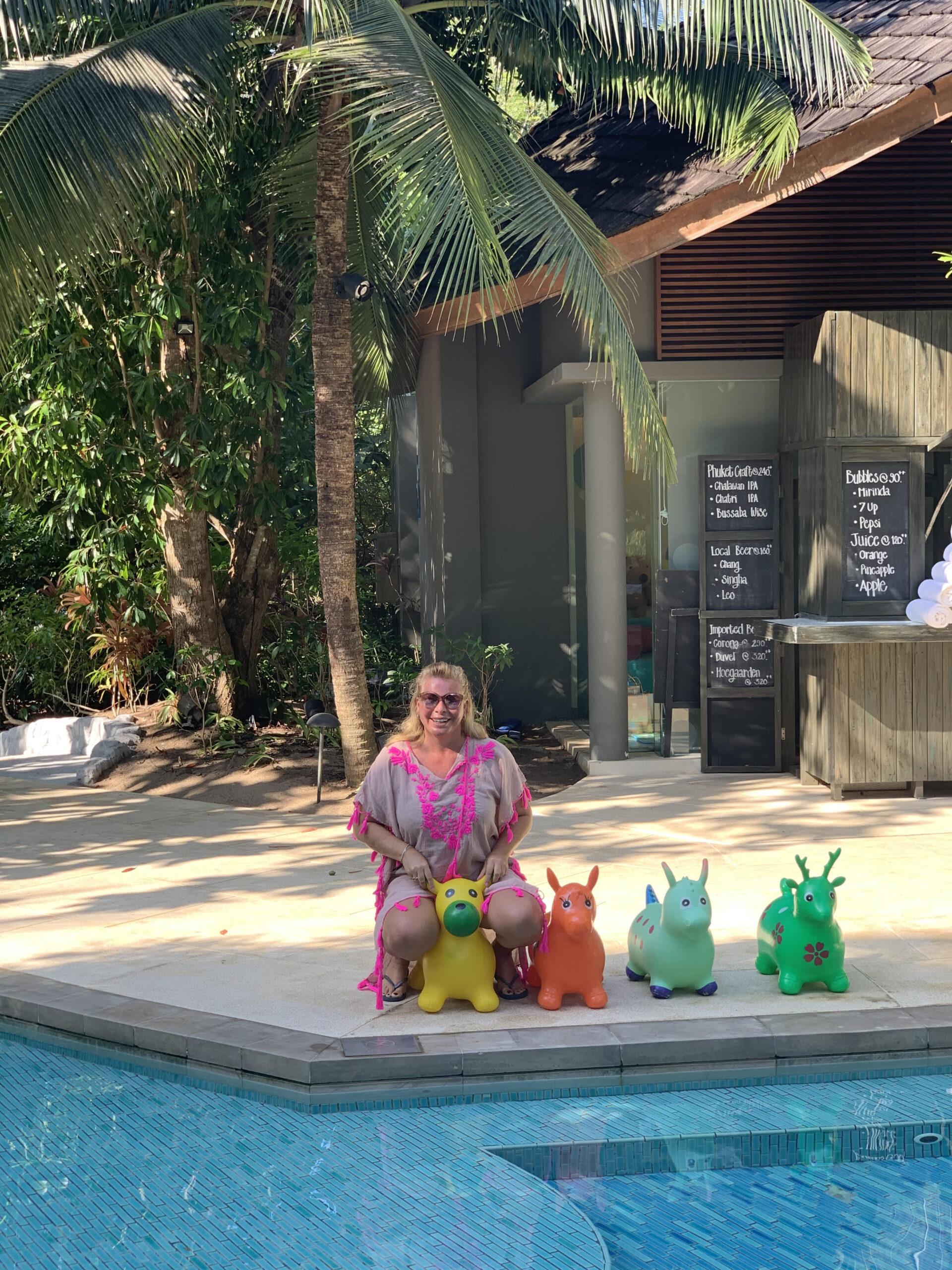 Venskab, ferie, Thailand, pool, børn