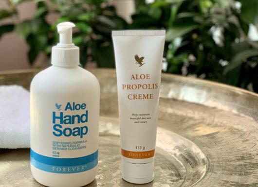 Aloe Propolis, tørre hænder, fødder, hudpleje, håndcreme, Forever Living