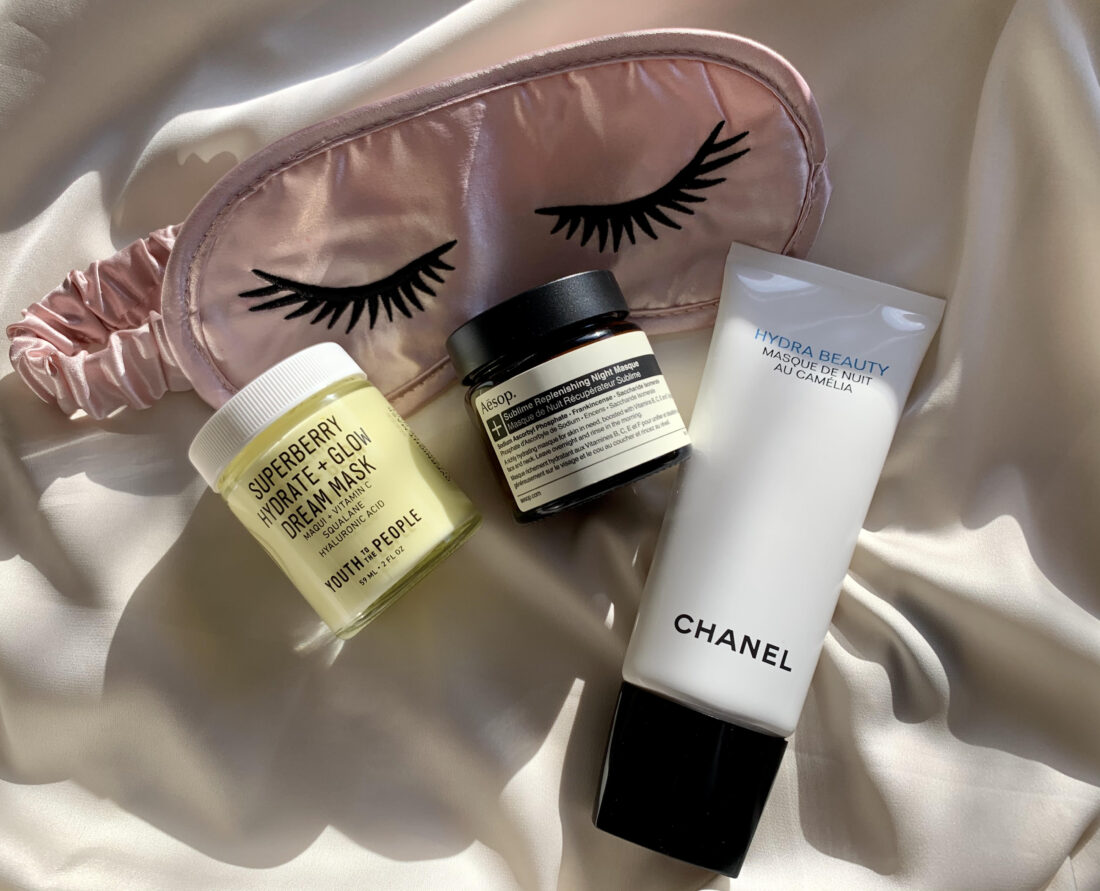 Natmasker, natcreme, Aesop, Chanel, Youth to the people